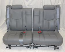 ORIGINAL 01-06 TAHOE ESCALADE YUKON 3RD THIRD ROW GREY LEATHER SPLIT SEATS H303