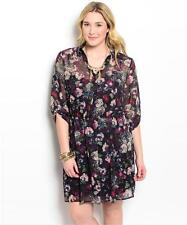 NEW..Beautiful plus size lined chiffon shirt style dress..SZ16-18/1xl