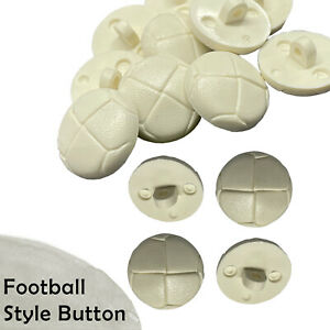 Round Sewing Leather Look Shank Buttons For Knitting Clothing Jackets Coats