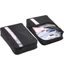 DesignGo Shirt Saver Packing Cubes 2pc Set Travel Accessory 301 Black
