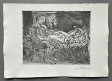 Pablo Picasso Suite Vollard Signed Lithograph 45x32 Garcon et Dormeuse Bloch 226