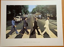 THE BEATLES -  LITHOGRAPH - POSTER - 1968 - ABBEY ROAD - APPLE CORPS LICENSED