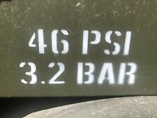 MILITARY ARMY PENMAN TRAILER TYRE PRESSURE STENCIL (1inch letters)