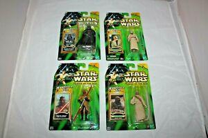 Star Wars Lot Of 4 Power Of The Jedi POTJ  Vader Tusken Raider Darth Maul Kenobi