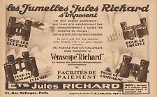 Y8789 Jumelles Jules RICHARD - Pubblicità d'epoca - 1931 Old advertising