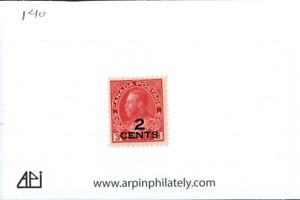 Middlesex Stamp. Canada #140, Admiral Provisional overprint. MH  ct6