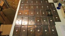 Antique Hubbell Brass Toggle Light Switch Plate Covers- TBR