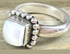 Silpada R1617 Sterling Silver Button Framed Freshwater Pearl Ring Size 8 New