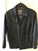 *NWOT* ADLER AUTHENTIC Men Black Soft Leather Jacket Coat Lined Lamb Size Small