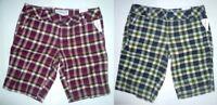 AEROPOSTALE Yarn-dyed Womens Plaid Bermuda Shorts NWT #8153