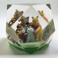 DISNEY Winnie The Pooh And Friends Plastic Polygon Prism Paperweight 1 3/4""