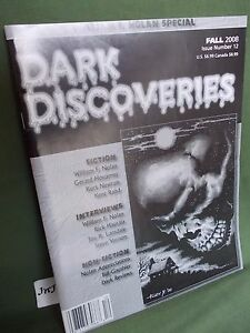 DARK DISCOVERIES MAGAZINE #12 FALL 2008 SIGNED BY WILLIAM F NOLAN
