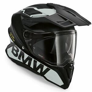 BMW GS Pure Motorrad Adventure Motorcycle Full Face Crash Helmet Glacier