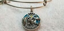 Alex And Ani Exclusive 2018 Bahamas Silver Charm Adjustable Bangle Bracelet
