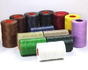 (0,40€/m) 5m Wachsband Polyester 1mm Perlenschnur gewachst Schnur Sattlergarn