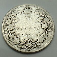 1902H Canada 25 SC Twenty Five Cents Quarter King Edward VII Canadian Coin G144