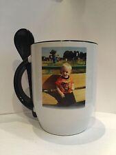 Custom Made Photo Coffee Mug Cup spoon USA Seller Dishwasher safe