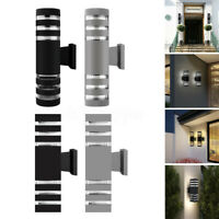 E27 Modern LED Up Down Wall Light Sconce Dual Head Lamp Fixtures Outdoor