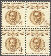 Scott # 1110 - Us Block Of 4 - Simon Bolivar - Mnh - 1958