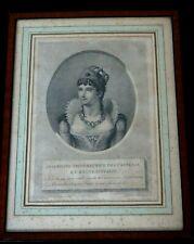 josephine imperatrice gravure terminée par duthe  engraving napoleon empire XIX