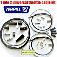 VENHILL 1 into 2 universal throttle cable kit, 33mm stroke, U01-4-125