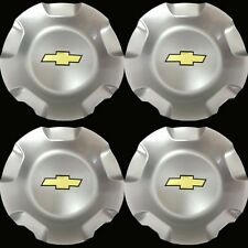 4x CHEVY WHEEL CENTER CAPS SILVERADO TAHOE SUBURBAN AVALANCHE 2007-2013 SILVER