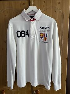 Musto Long Sleeved Rugby Polo Shirt Size Large VGC