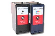 2x XXL CARTUCHO TINTA negro y color para Lexmark 28 29 X2530 X2550