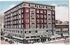 Postcard Iowa Sioux City Martin Hotel Linen 1940s Unused Woodbury County
