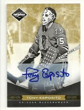 2011-12 Panini LIMITED Monikers TONY ESPOSITO  Gold Autograph Serial # 18/25