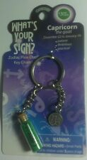 CAPRICORN GOA WHAT'S YOUR SIGN ? ZODIAC PIXIE DUST GLASS VIAL KEY CHAIN KEYCHAIN