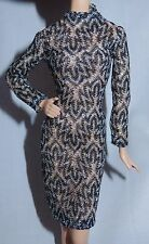 DRESS ONLY ~ LOOK ~ BARBIE DOLL CITY SHINE SILVER BLACK NUDE GOWN MODEL MUSE