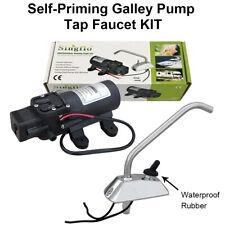 12V 35PSI Self-Priming Electric Water Pump Tap Faucet KIT for CR/Caravan/Boat