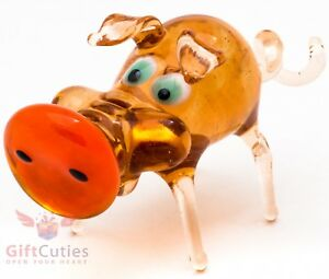 "Glass Pig Piglet figurine ""murano"" handmade in Russia Symbol of 2019"