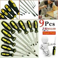 9pc Insulated Precision Magnetic Screwdriver Tool Set Phillips Slotted Torx Tips