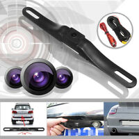 7 LED Rear View Reverse License Plate Parking Rearview Backup Camera Universal