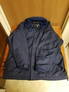 Vintage NIKE Ski Snowboard Winter Navy Blue Coat Jacket Men's Size M