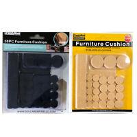 76 Self Adhesive Floor Protectors Furniture Felt Round Pads Chair Sofa Table