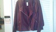 BRAND NEW FAUX LEATHER PLUS SIZE 22 JACKET