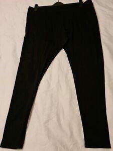 Esmara Black Stretchy Cotton Jersey Leggings Size 22, 24