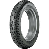 100/90-19 (57H) Dunlop D404 Front Motorcycle Tire Black Wall