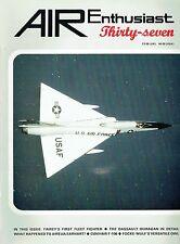 AIR ENTHUSIAST #37 NOV-DEC 88: FAIREY FLYCATCHER/ CONVAIR F-106/DASSAULT OURAGAN