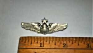 """N.S. Meyers 2"""" WWII USAF Senior Pilot Service Wings US Air Force"""