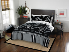 Oakland Raiders Nfl Full Comforter & Sheet Set (5 Piece Bed in A Bag)
