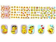 5 Sheet Set Emoji Expression Design DIY Water Transfer Nail Art Stickers Decals