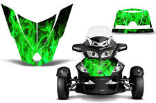 Can Am BRP RTS Spyder Roadster Hood Graphic Kit Decal Sticker Wrap 10-11 ICE GRN