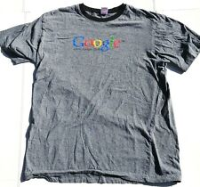 CANVAS UNIQUE GOOGLE.com T SHIRT GRAY LARGE