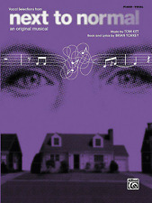 """""""NEXT TO NORMAL"""" PIANO/VOCAL SELECTIONS MUSIC BOOK-BRAND NEW ON SALE SONGBOOK!!"""