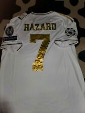 Real Madrid Eden Hazard Adidas 7 Mens M White 2019/2020 season