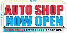 Auto Shop Now Open Banner Sign New Larger Size Best Quality for the $